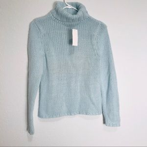 GAP wool blend turtleneck long sleeves sweater